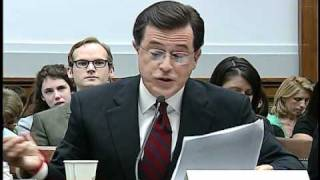 Download Colbert stays in character at congressional hearing Mp3 and Videos