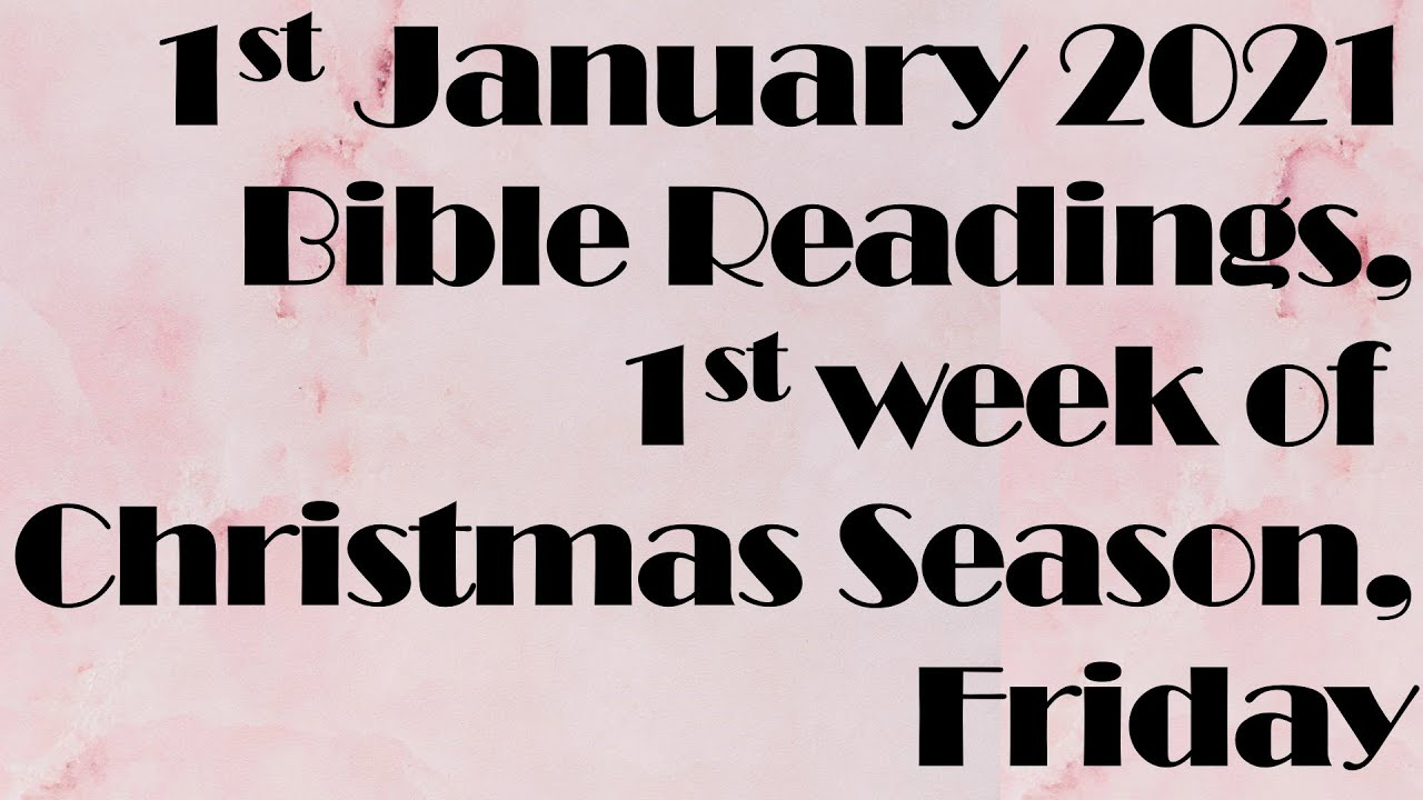Readings For Christmas 2021