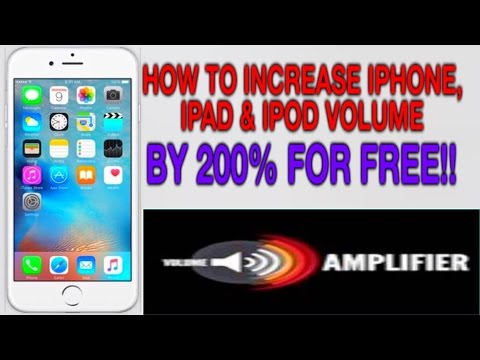 VOLUME AMPLIFIER: HOW TO INCREASE YOUR IPHONE,IPAD AND IPOD VOLUME BY 200%  FOR FREE