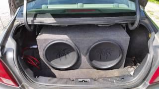 Soundstream tarantulas slammed by Hifonics Brutus amp 2,400 watts