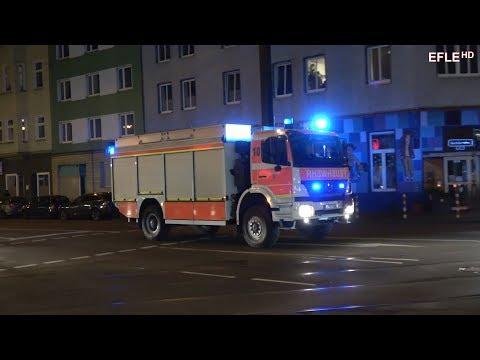 Einsatzfahrten und Einsatzstelle Verkehrsunfall Straßenbahn/PKW in Düsseldorf [06.12.2017]