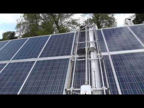 Automated Solar Panel Cleaning Robot Cleaning Solar Panels In The UK