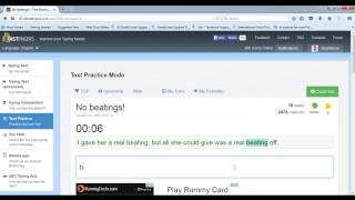 10FastFingers Text Practice  (No beatings! ) - 109 WPM with 100% Accuracy