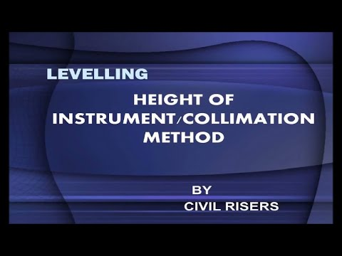 LEVELING : Watch HEIGHT OF INSTRUMENT METHOD