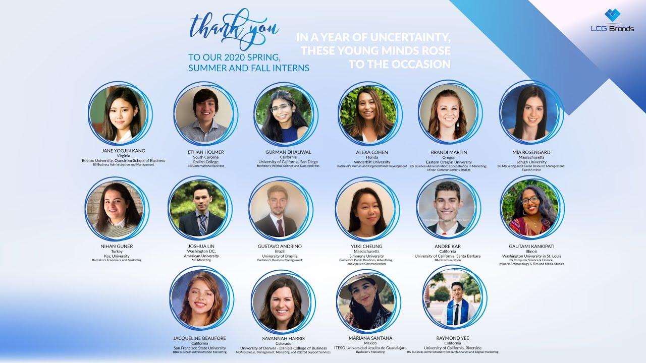 A Huge Thank You to Our 2020 Interns & Their Words of Wisdom