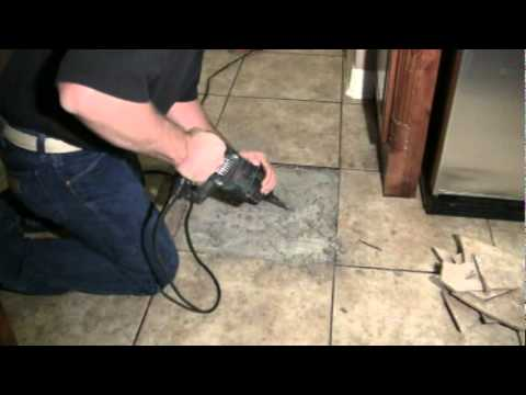Replacing A Broken Floor Tile Youtube