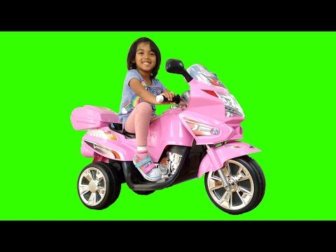 Thumbnail: Pink BMW Style Ride On MotorBike Power Wheels | Surprise Toy Unboxing & Assembly Playtime Kids Fun