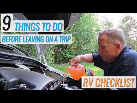 9 Things to do BEFORE you Leave on an RV Trip (RV Checklist)