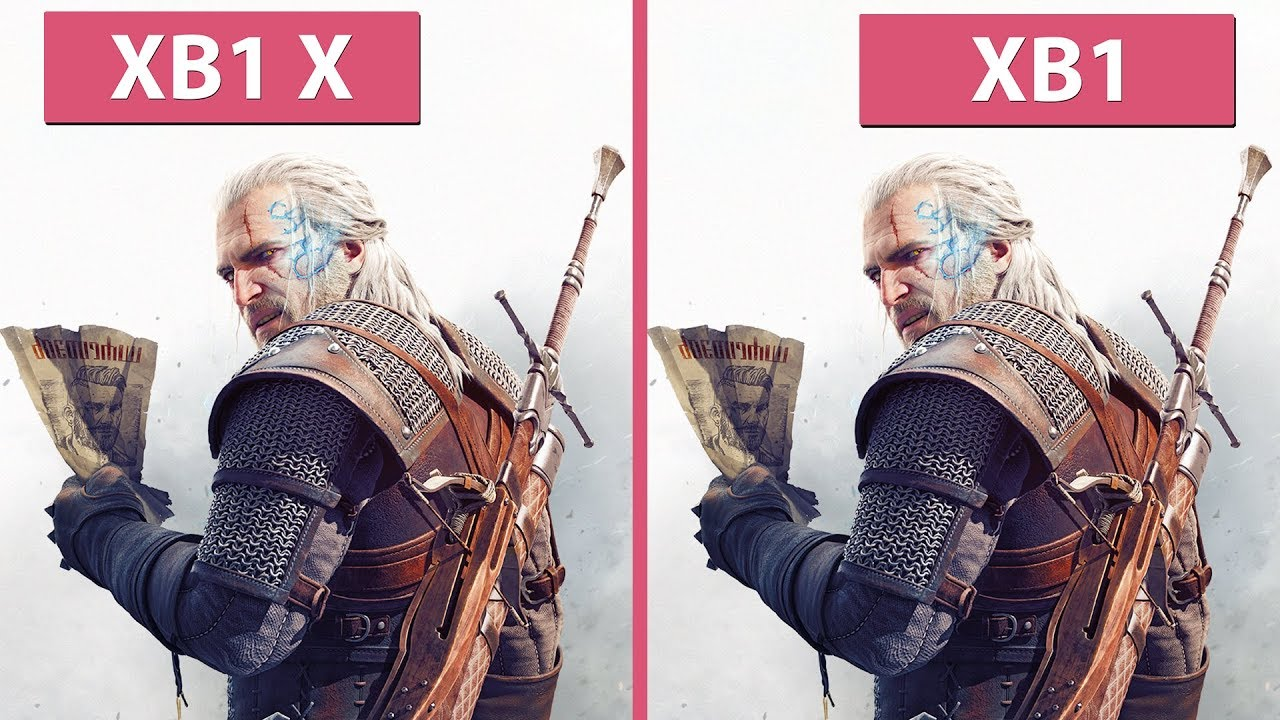 4K] Witcher 3 – Xbox One vs. Xbox One X 4K & 60 fps Modes Frame Rate ...