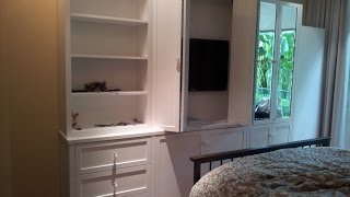 TV Wall Cabinets For Flat Screens With Doors