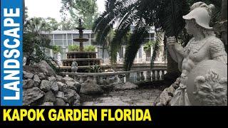 Beautiful Kapok Gardens ancient sculptures great custom fountain by Jarek Clearwater Florida USA