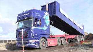 Scania R500 Dumping A Load Of Dirt