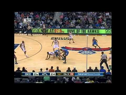 Russell Weestbrook and Kevin Durant combined 57pts vs Atlanta Hawks 3/4 hd