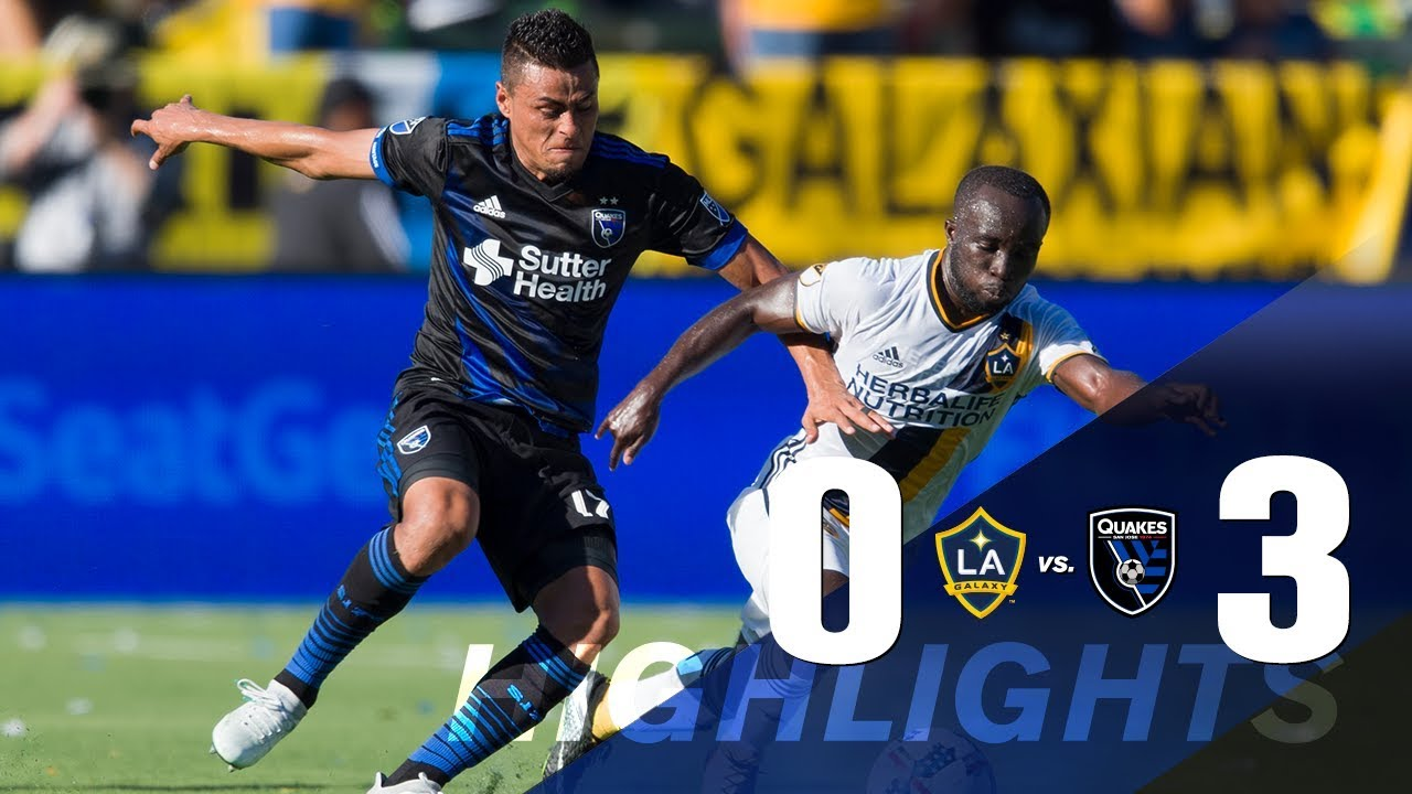 LA Galaxy 0-3 San Jose Earthquakes