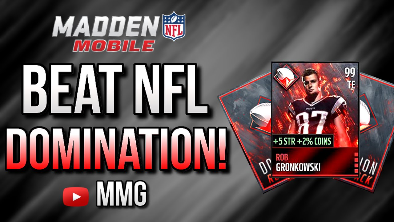 how to beat nfl domination live event madden mobile 16. Black Bedroom Furniture Sets. Home Design Ideas