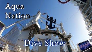 [4K] Aqua Nation Dive Show Aqua theater Aqua Show Symphony of the Seas 2018 Royal Caribbean