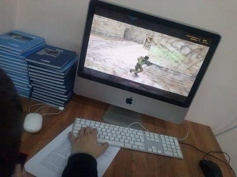 Играем в Counter-Strike 1.6 на информатике ( на Macе )  -2