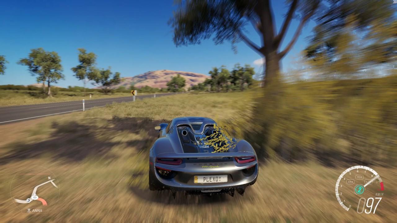 forza horizon 3 2014 porsche 918 spyder dev build gameplay