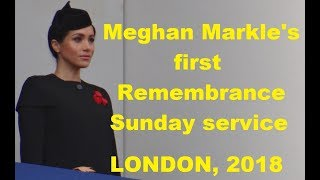 Meghan Markle's first Remembrance Sunday service at Cenotaph in London, 2018