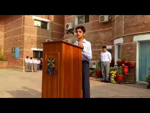 Saroosh Zahid Speech at Beacon House School System Lahore
