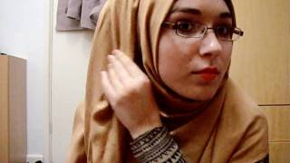 Hijab Tutorial: Brown layered hijab (volumised)