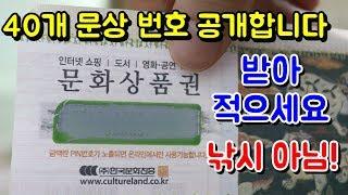 영상으로 20개 문화상품권 번호 공개 합니다! (낚시아…