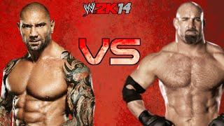 WWE 2K14: Goldberg VS Batista [FR//HD]