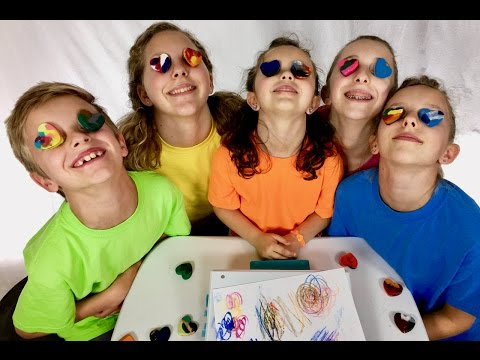 Thumbnail: Learn English Colors! Melted Rainbow Crayons with Sign Post Kids!