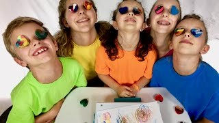 Learn English Colors! Melted Rainbow Crayons with Sign Post Kids!