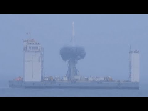 China's first sea launch: Long March-11 launches from a ship at sea
