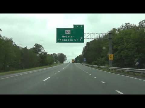 Massachusetts - Interstate 395 North - Mile Marker 0 to 12 (Full Length)