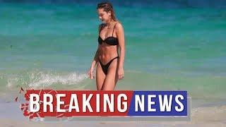Delilah Belle Hamlin Frolics In The Ocean In A New Black Thong Bikini On College Break — See Pics