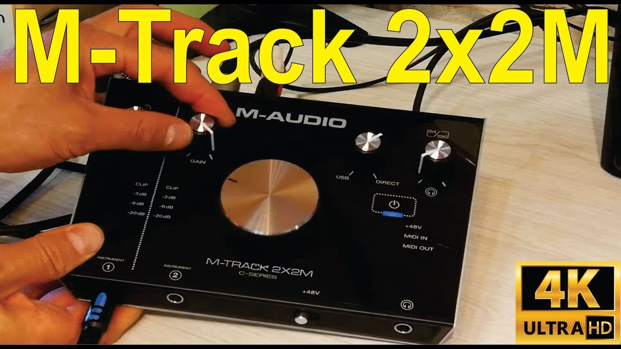 M-Audio M-track 2x2M: Unboxing, how to connect, and troubleshooting on