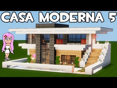 Casa moderna 5 en minecraft c mo hacer construir y decorar for Casa moderna minecraft pe 0 10 5