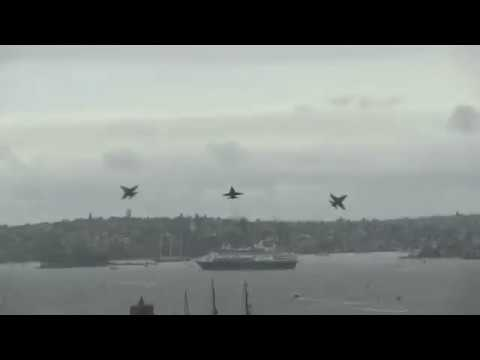F/A-18 Hornet Jets in Sydney Harbour for Australia Day 2018