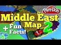 Middle East Map || Mideast FUN FACTS || Play-Doh Puzzle || Learn The Countries