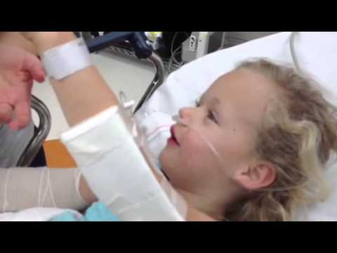 Little 6year old kid comes off anesthesia it's hilarious