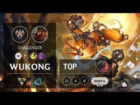 Wukong Top Vs Aatrox - KR Challenger Patch 10.11