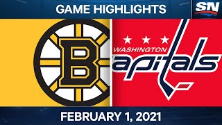NHL Game Highlights   Bruins vs. Capitals - Feb. 01, 2021