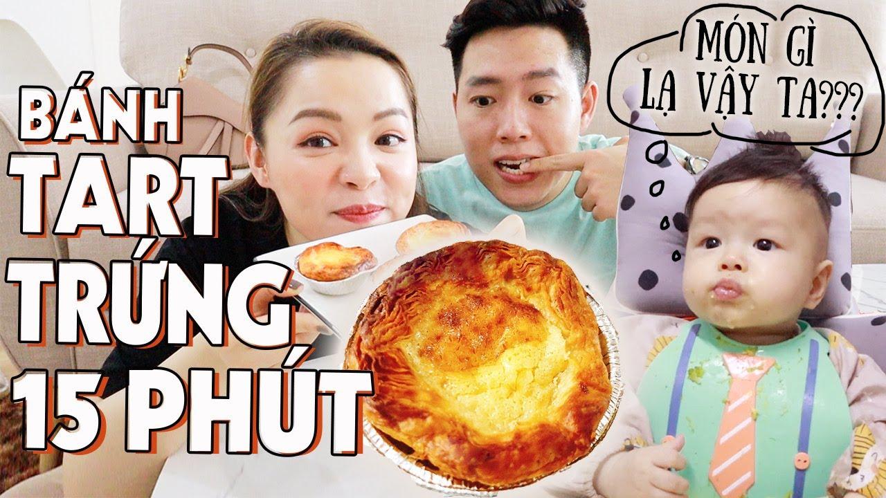 Làm Bánh Trứng KFC Chỉ Trong 15' 🤤 Bánh Tart Trứng Từ Nồi Chiên Không Dầu ❤️ TrinhPham Family