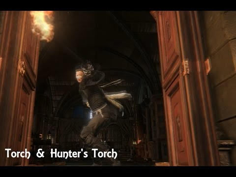 Bloodborne - Hunter's Torch and Torch (Move Set Showcase)