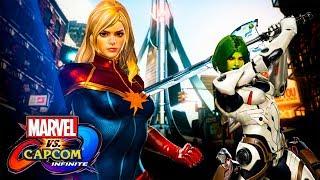 Marvel vs. Capcom: Infinite -   Капитан Марвел и Гамора