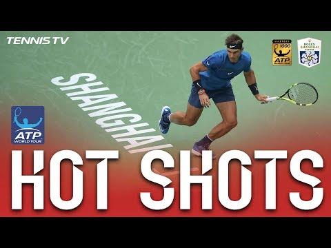 Hot Shot: Nadal Hits Forehand Winner At Shanghai 2017