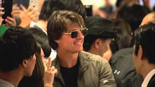Tom Cruise Arrives at Tokyo Airport for Mission: Impossible 5 Premiere