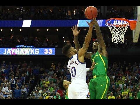 Oregon vs. Kansas: Jordan Bell with 8 huge blocks!