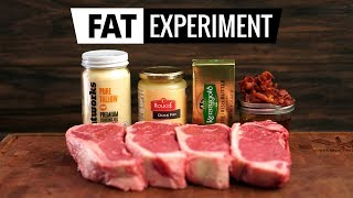 FAT EXPERIMENT - Searing Steaks with Butter, Beef, Duck & Bacon FAT!