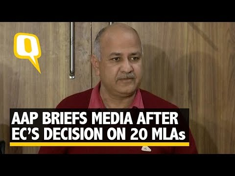AAP Briefs Media After EC Recommends to Disqualify its 20 MLAs