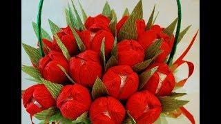 МАМЕ цветы из бумаги как сделать ТЮЛЬПАН из бумаги своими руками (День Рождение,День Матери,8 МАРТА)