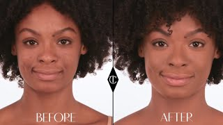 How to cover up Pigmentation: Charlotte Tilbury Magic Foundation Makeup Tutorials