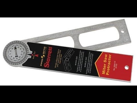 Starrett 12 Pro Site Protractor Presented By Woodcraft Youtube